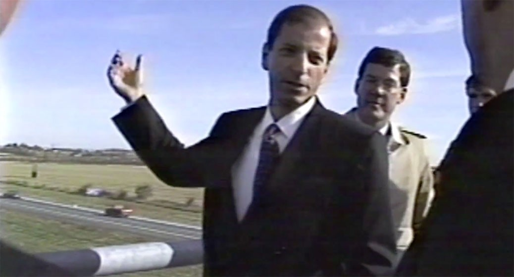 In a video from the early 1990s, Bruce Firestone talks to reporters on the Huntmar Bridge overlooking the farmer's field that would eventually become the Palladium, now known as Canadian Tire Centre.