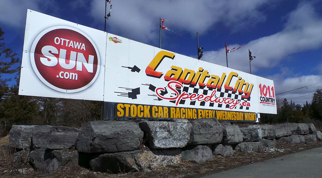 Capital City Speedway Sign / Photo by Glen Gower.
