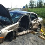 Three-vehicle collision at Fallowfield and Eagleson