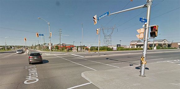 Intersection of Carp Road and Hazeldean Road. Photo via Google Streetview.