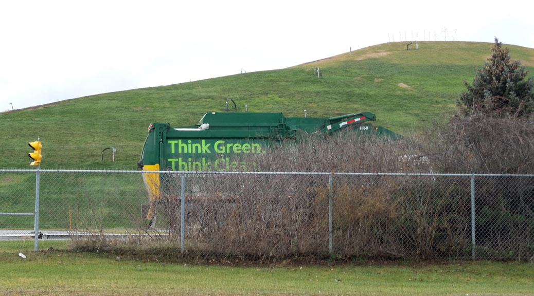 A garbage truck arrives at the Carp Road Landfill. It's now operated as a transfer station.