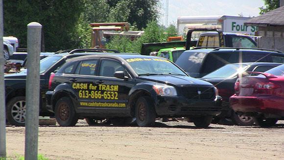 Cash For Trash vehicle. (Photo by Jordan Mady)