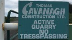 Entrance to Cavanagh Quarry. Photo by Jordan Mady.