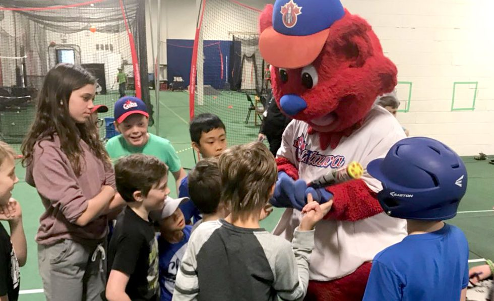 Ottawa Champions mascot Champ visited the Cubhouse during March Break.