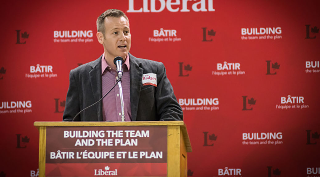 Chris Rodgers will represent the Liberals in the new Carleton riding. (Photo via the Carleton Federal Liberal Association.)
