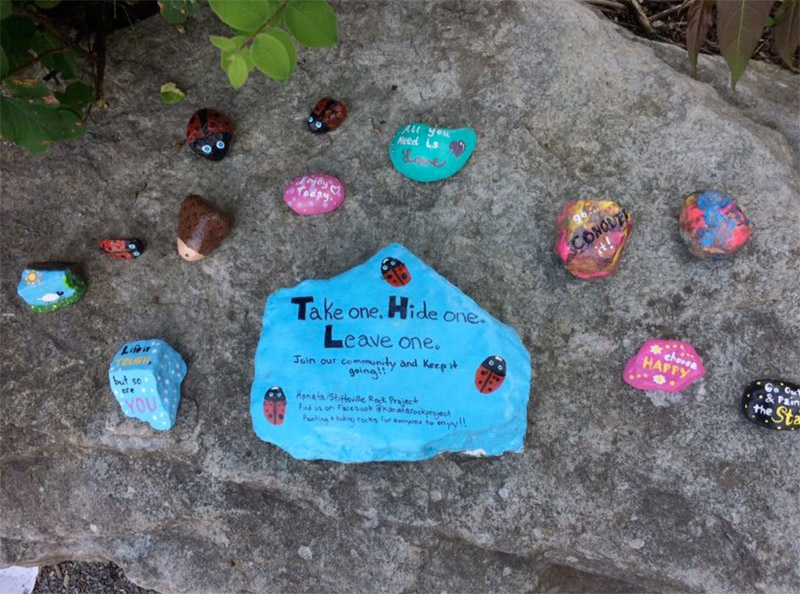 Community 'sharing rock' that was placed in Kanata last summer