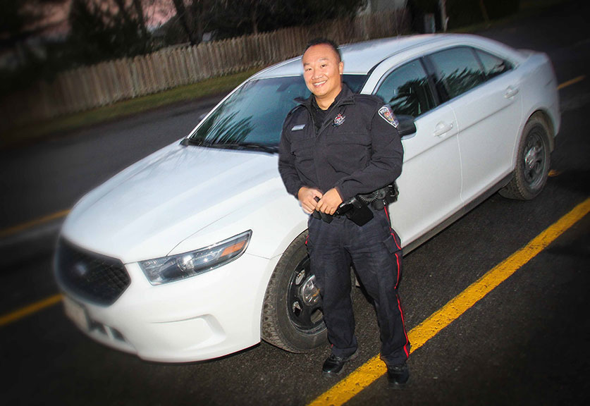 Stittsville community police officer Constable Phong Le. Photo by Barry Gray.