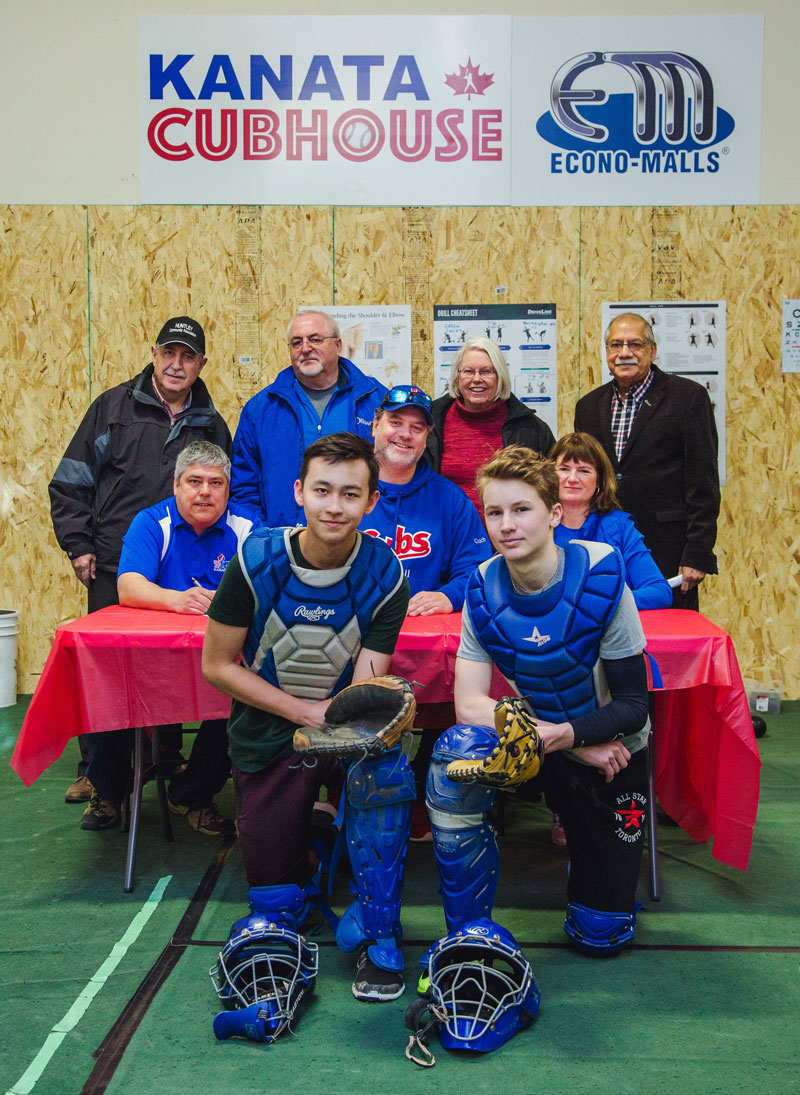 Local councillors joined players and volunteers on Saturday, March 24 to celebrate the the Kanata Cubhouse baseball training facility on Legget Drive in Kanata North.