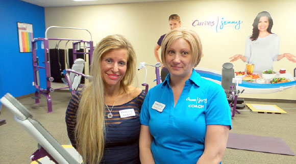 Barb Kerzner and Shannon Graham inside the new combined Curves-Jenny Craig location in Kanata.