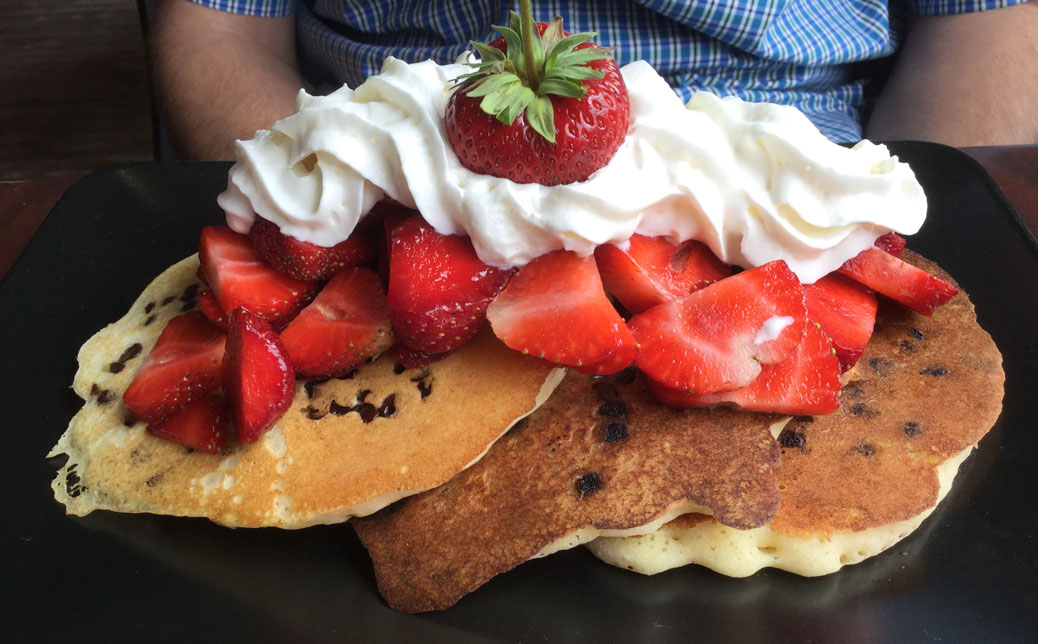Danby's strawberry and chocolate pancakes. Photo by Janice Blain.