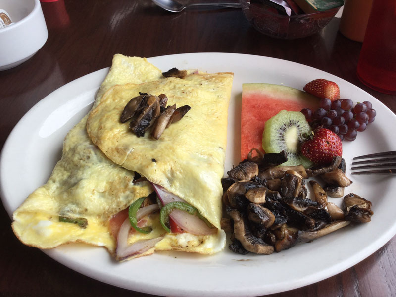 Danby's three egg veggie omelette. Photo by Janice Blain.