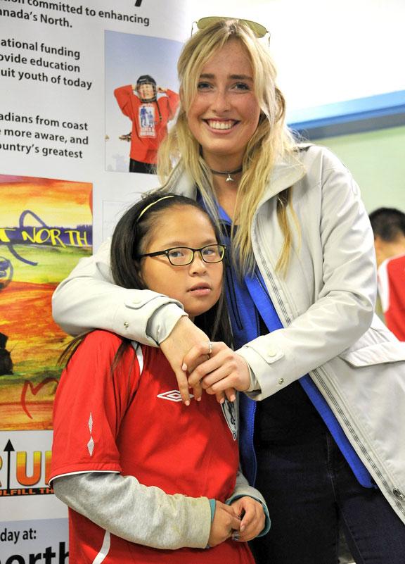 Eva von Jagow visited kids in Nunavut last summer.