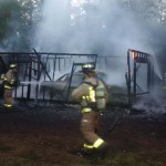 Garage fire on Upper Dwyer Hill Road