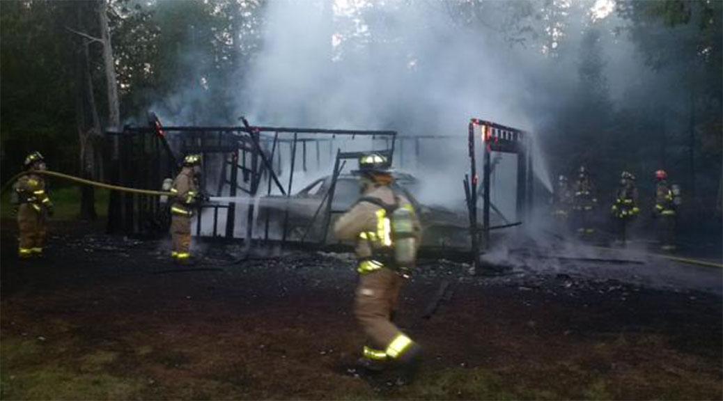 Fire on Dwyer Hill Road, May 27. Photo via Todd Horricks / Ottawa Fire.