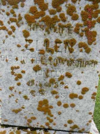 Ellen Holmes gravestone at Carp Presbyterian Cemetery.