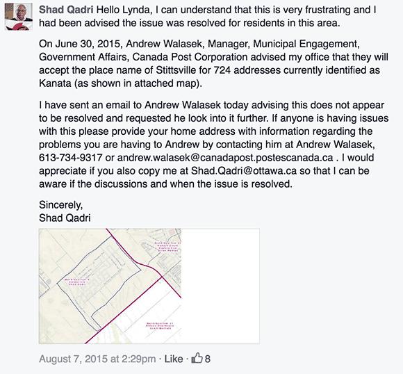 Qadri Facebook post 2015