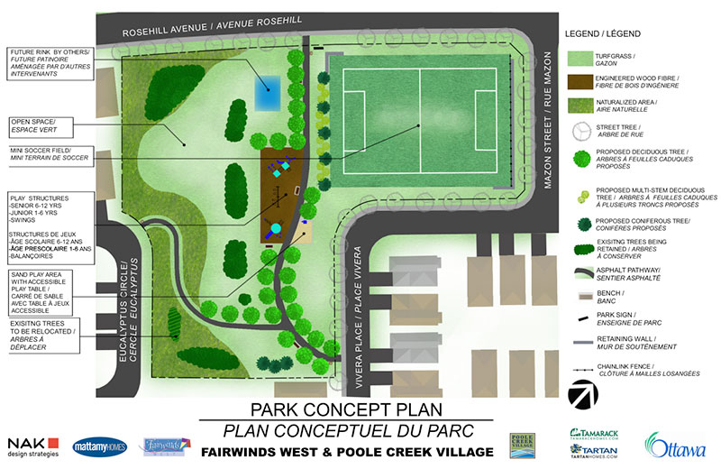 Map of the proposed park for Fairwinds West. Click for full size.