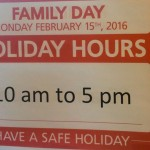 Open & closed in Stittsville for Family Day