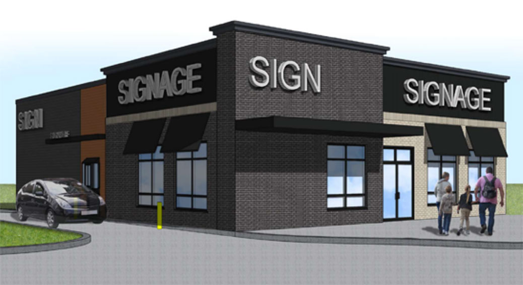 Rendering of the fast food restaurant on Stittsville Main