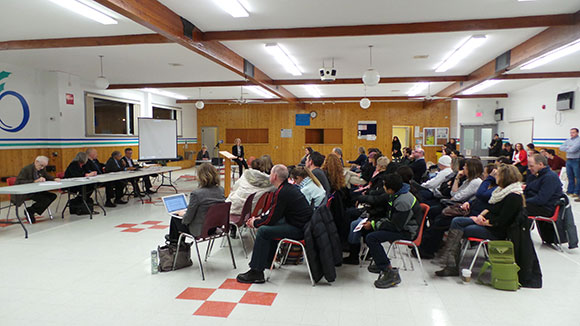 Over 50 people attended the town hall.