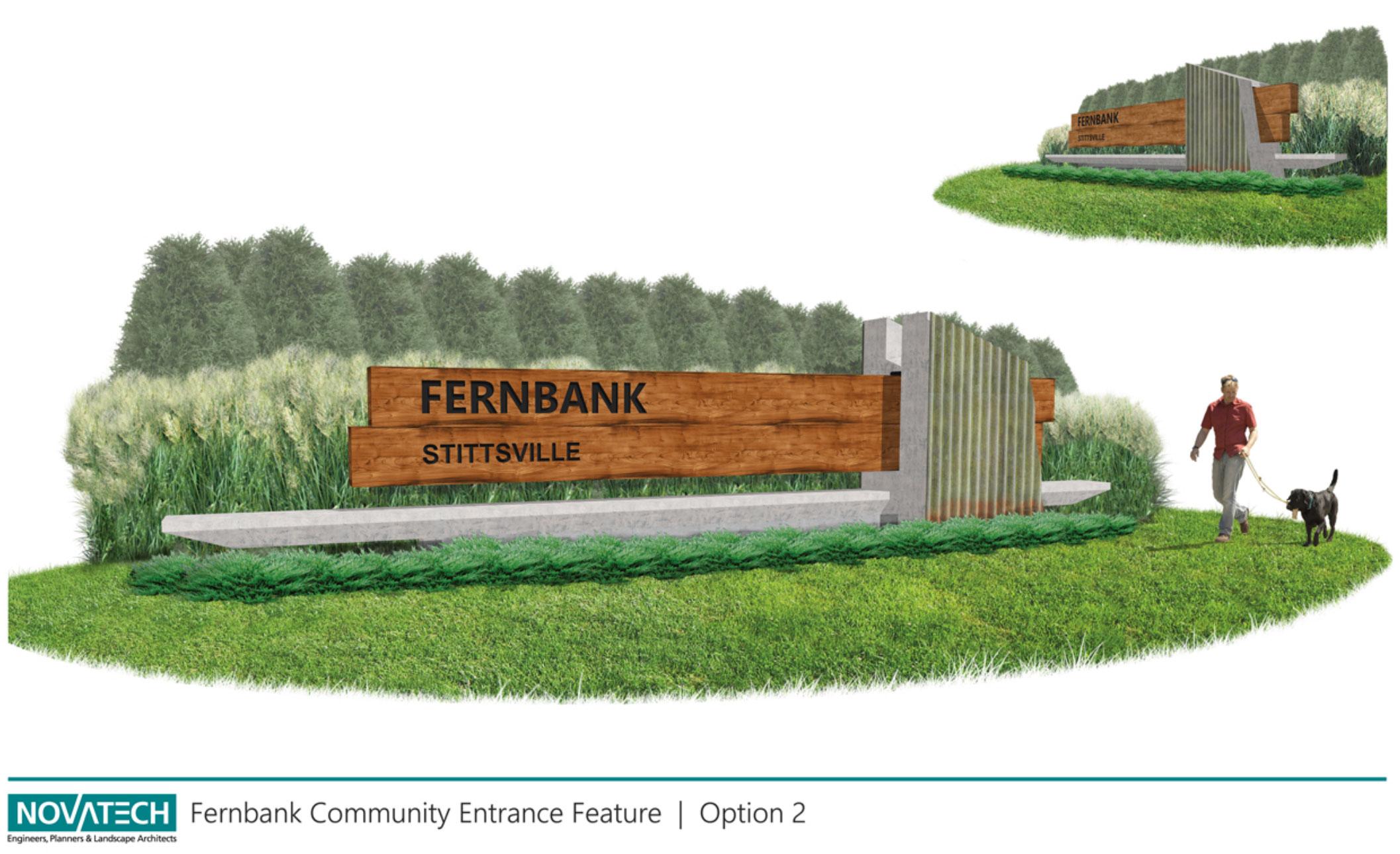 Fernbank community entrance feature option