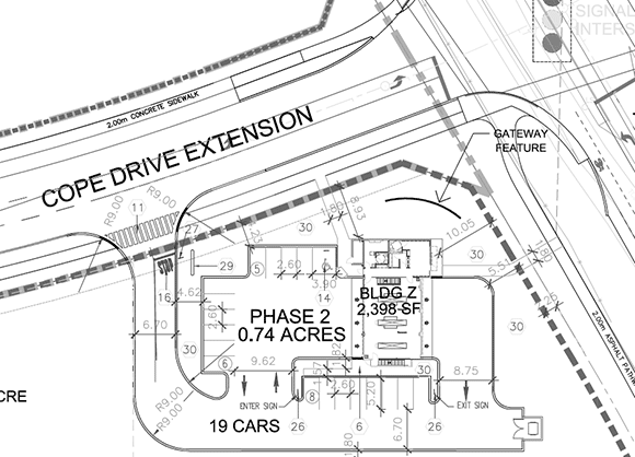 Fernbank Jiffy Lube site plan