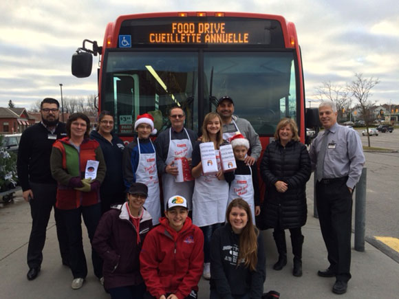 Over 9,000 items were collected during the 2015 Fill the Bus campaign. Photo via the Stittsville Food Bank.