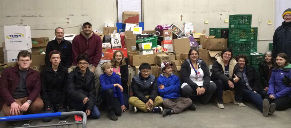 "Stittsville Food Bank ""Fill the Bus"" event 2016"