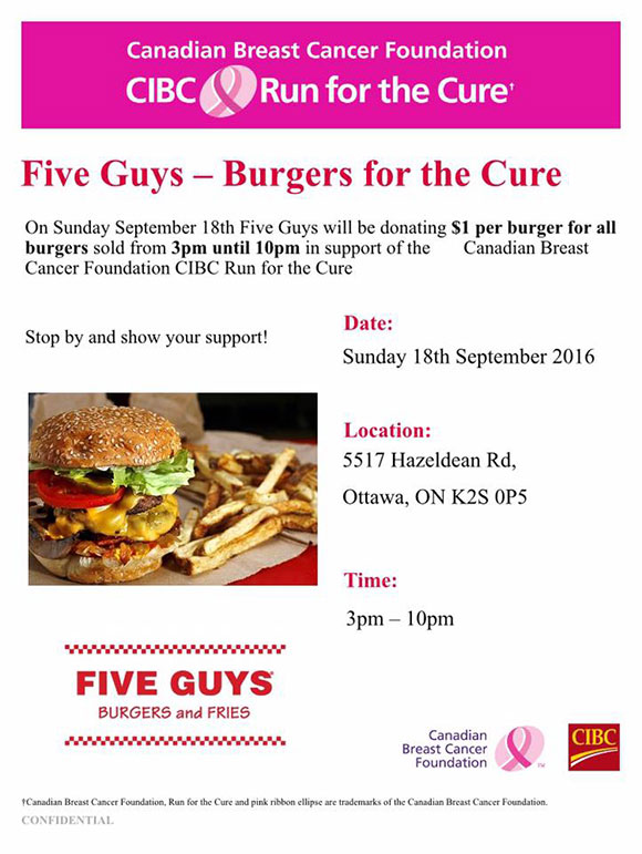 Five Guys supports Run for the Cure