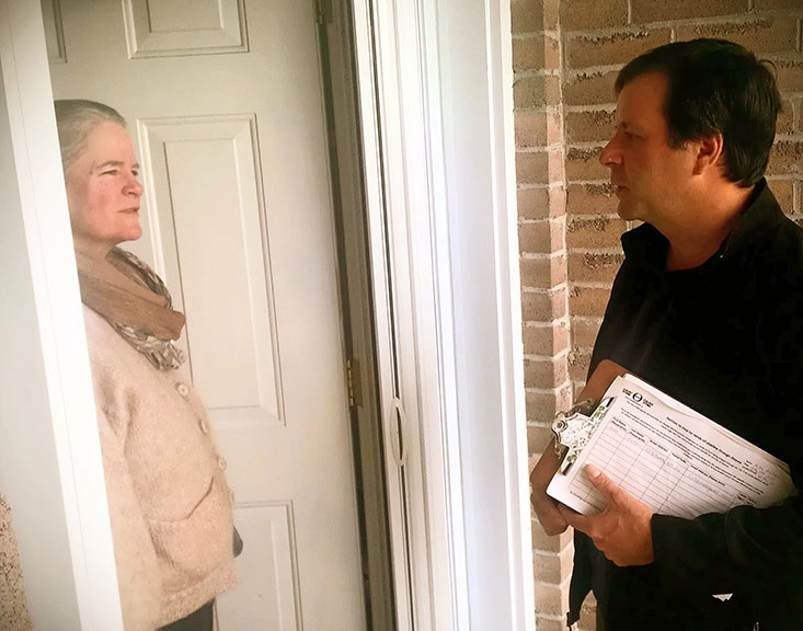 Mike Fletcher is a volunteer with Ecology Ottawa. Along with other volunteers, they've knocked on over 6,000 doors to talk to residents about the proposed Energy East pipeline.
