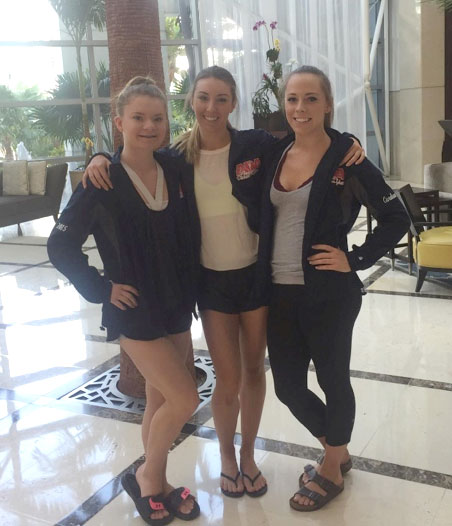 Caroleen Harding, Callee Scott and Taylor Duncan represent Footworks Dance Academy at the American Dance Awards
