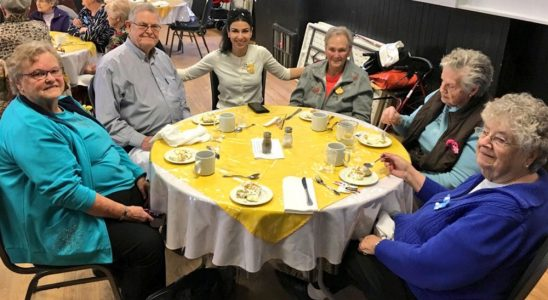 PC candidate Goldie Ghamari attended the Friendship Club luncheon in March.