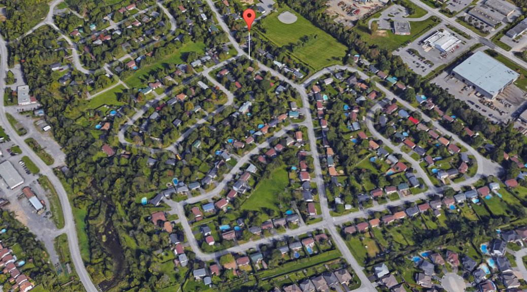 Fringewood. 3D image via Google Maps