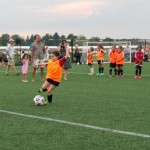 West Ottawa Soccer players practice with Ottawa Fury