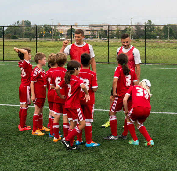 WOSC players train with the Ottawa Fury on August 18, 2015.