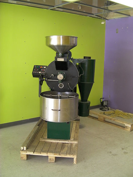 "The ""Rolls Royce of Roasters"", shown here when the coffee shop was under construction in 2010.  Photo supplied by Paul Jay."