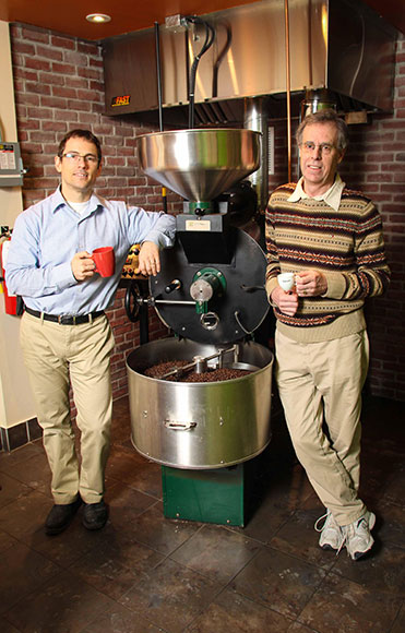 Gaia Java owners Paul Melsness and Paul Jay. Photo by Barry Gray.