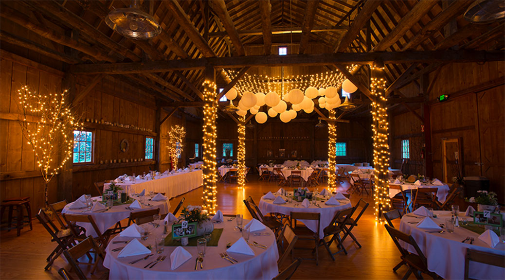 Inside the Garvey Farm. Photo via traversecityweddingbarn.com