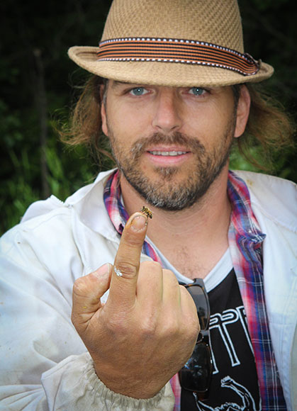 Matthew Gee, Co-Founder of Gees Bees Honey Company. Photo by Barry Gray.