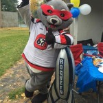 PHOTOS: 67's mascot Riley visits Goulbourn Rockets Fun Day