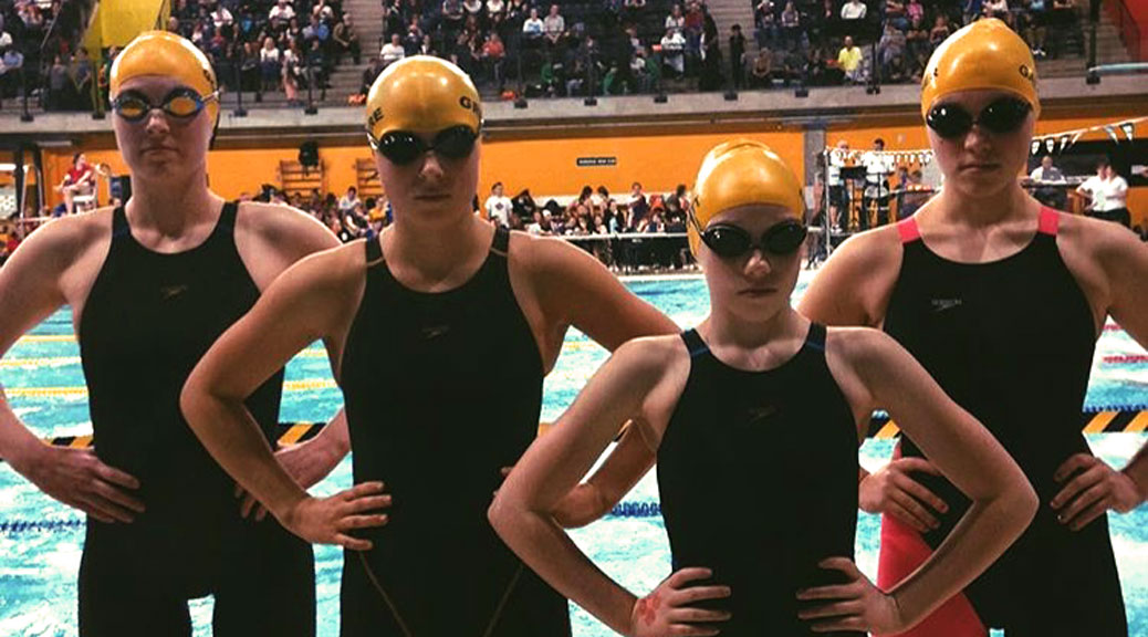 "The Goulbourn Seahawks at a meet last December in Gatineau. ""I love the picture because it shows how swimming builds strength and confidence in our kids,"" says parent Andrea Gregoire"