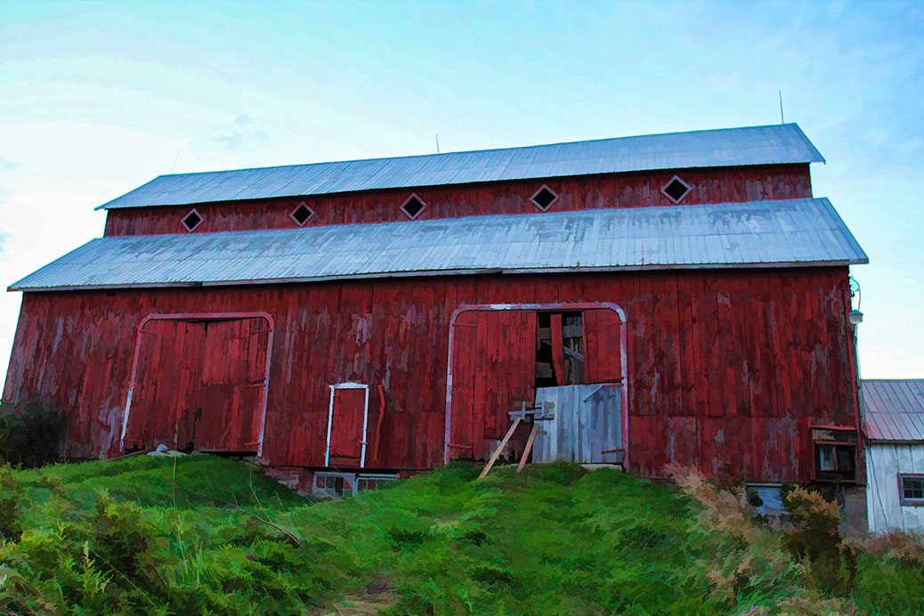 Bradley-Craig barn, September 2015. Photo by Barry Gray.