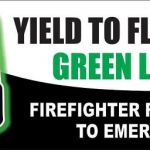 Right of way for vehicular flashing green lights – it's a courtesy