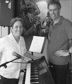 Gretchen Martin with Gaia Java owner Paul Jay