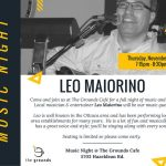Leo Maiorino performs at The Grounds on Nov 3