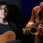Guitar and sax duo at Gaia Java this Friday
