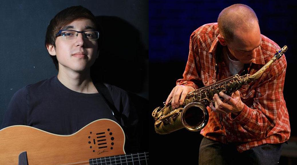 Justin Orok (Guitar) and Zakari Frantz (Saxophone)