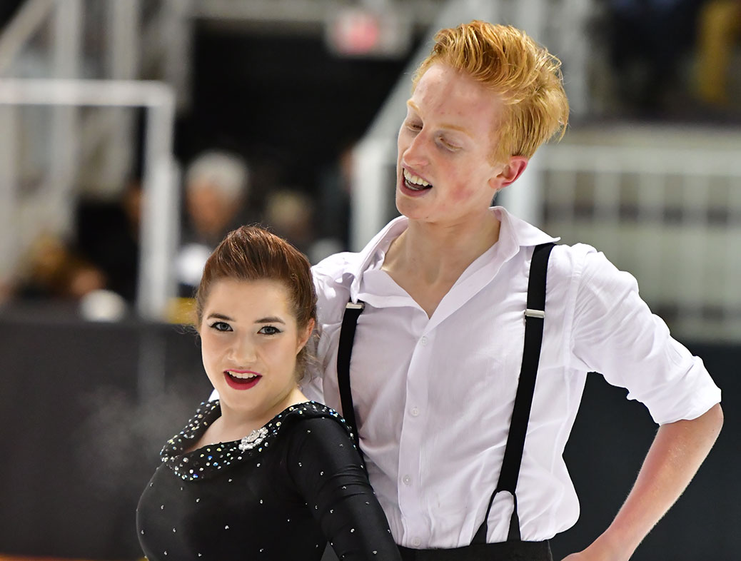 Figure skaters Alex Gunther and Kaitlyn Chubb. Photo by Danielle Earl.