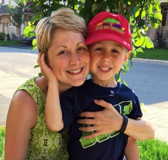 Jenny Guth and her son Levi