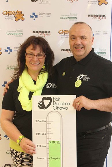 Hair Donation Ottawa was organized by Helene Hutchings and Perry Pavlovic, two Stittsville-based real estate agents. Photo by Barry Gray.